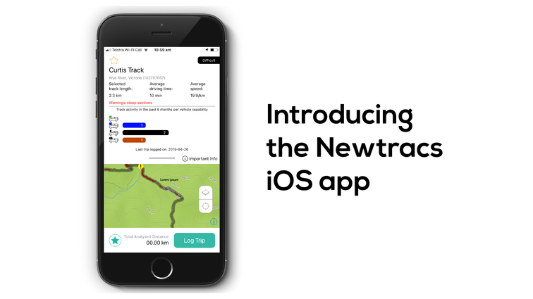 Newtracs iOS app intro