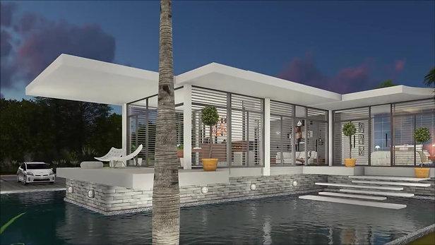 Casa  conceitual minimalista litorânea