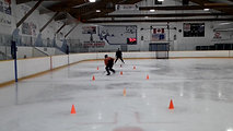 Here is one of our players going through one of the drills