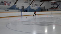 Here is another player going through the cones during a private session