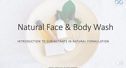 Face & Body Wash Class