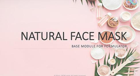 Natural Face Mask Class