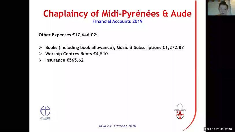 Treasurer's Presentation 2019 Accounts