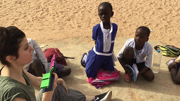 Line of 20 classes in Mbollet-Ba The Gambia