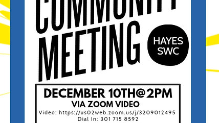 Hayes SWC Community Health Meeting