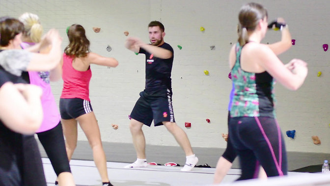 Paul Webb delivers Strong by Zumba in Swindon