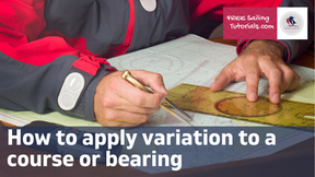 How to Apply Variation to a course or bearing