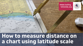 How to use the latitude scale to measure distance on a chart
