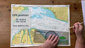 How to plot a GPS Fix on a paper chart