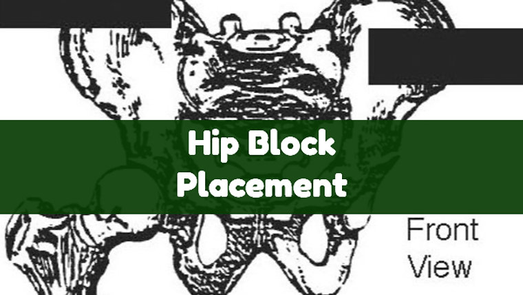 Hip Block Placement for Pelvis