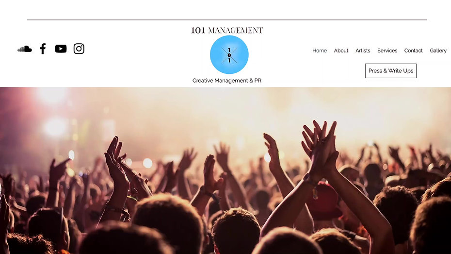 101 Management Website Preview