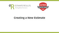Create a New Estimate