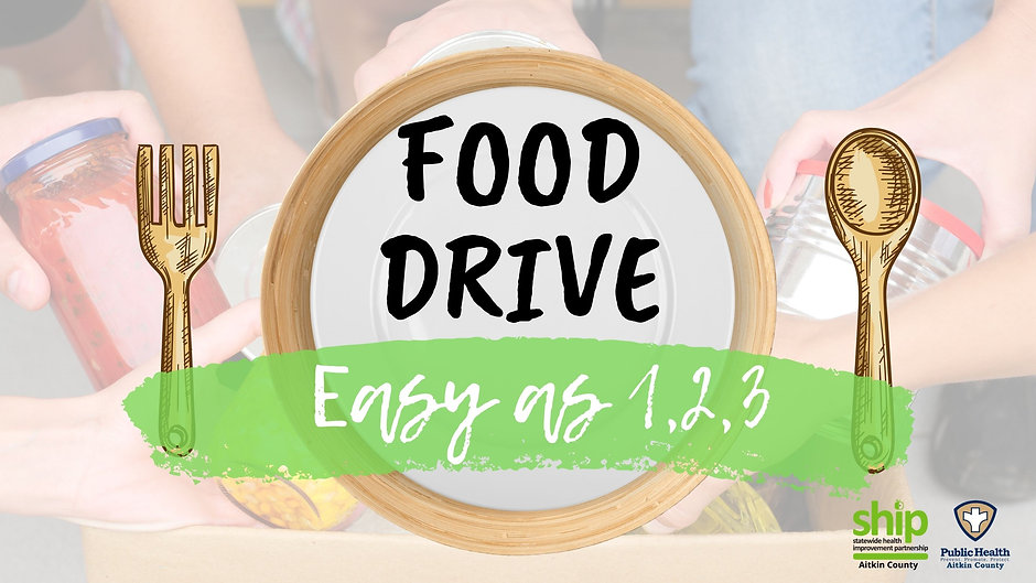 Aitkin County Food Drive Videos- Healthy Shelves Recipe Cards