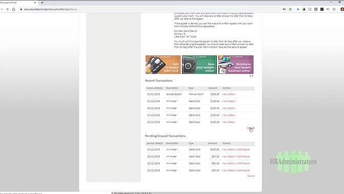 Check Balance & Card Transactions