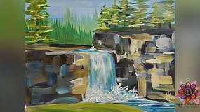 """""""Forest Falls"""" Paint & Stream"""