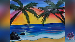 """Palm Trees in the Summer Breeze"" Paint & Stream"