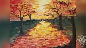 """Amber Autumn"" Paint & Stream"