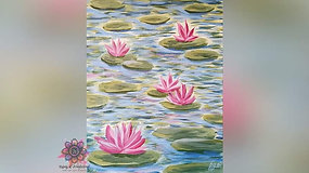 """Water Lilies"" Paint & Stream"