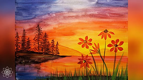"""Spring Sunset"" Paint & Stream"