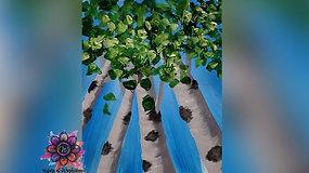 """Aspens in Spring"" Paint & Stream"