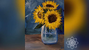 """Sunflowers in Jar"" Paint & Stream"