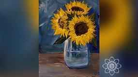 """Sunflowers in Jar"" Paint & Stream"