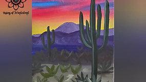 """""""Desert at Dusk"""" Paint & Stream"""