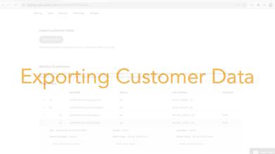 Exporting Customer Data