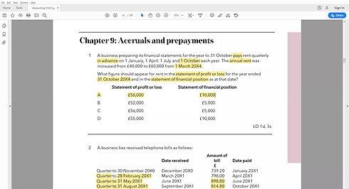 ACA Accounting basics part 2 (Accruals)