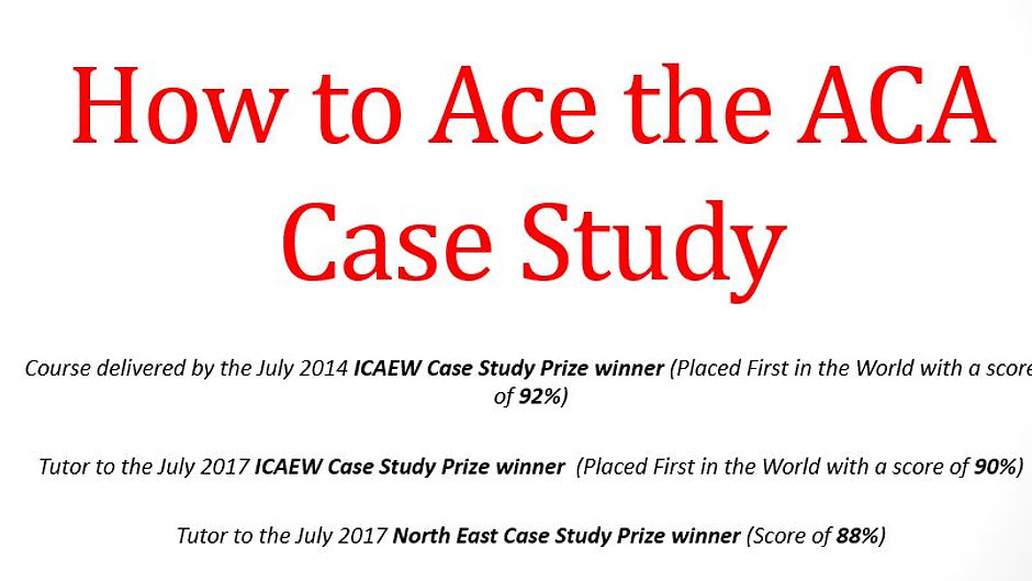 Case Study Masterclass