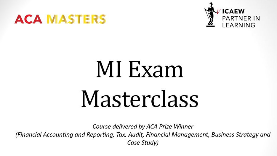 Management Information Masterclasses