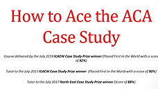 How to ace the ACA Case Study - Intro and R1