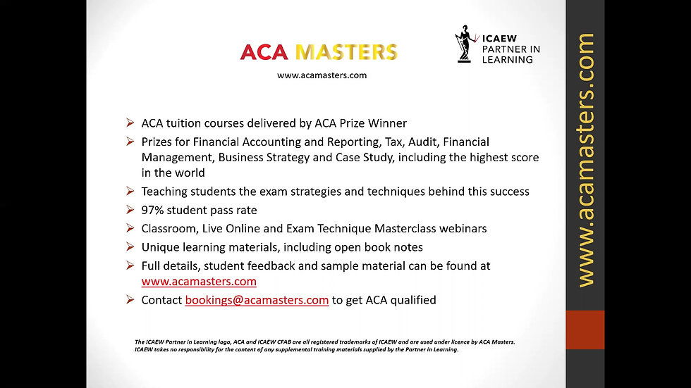 ACA Masters