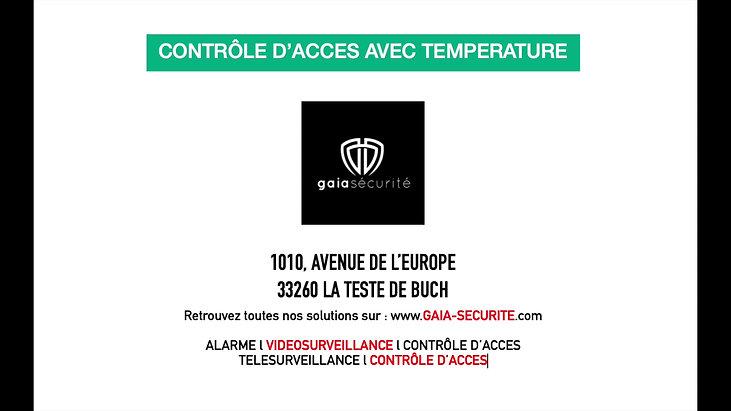 Contrôle d'accès avec temperature
