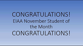 November Student of the Month