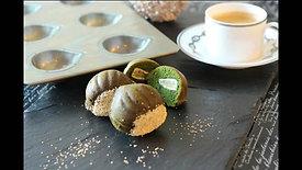 抹茶と栗のケイク
