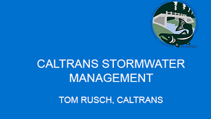 Caltrans Stormwater Management