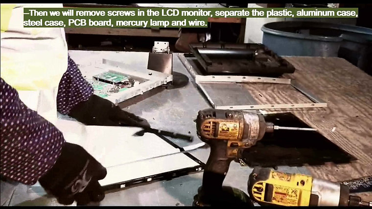 LCD SCREEN DISMANTLEMENT