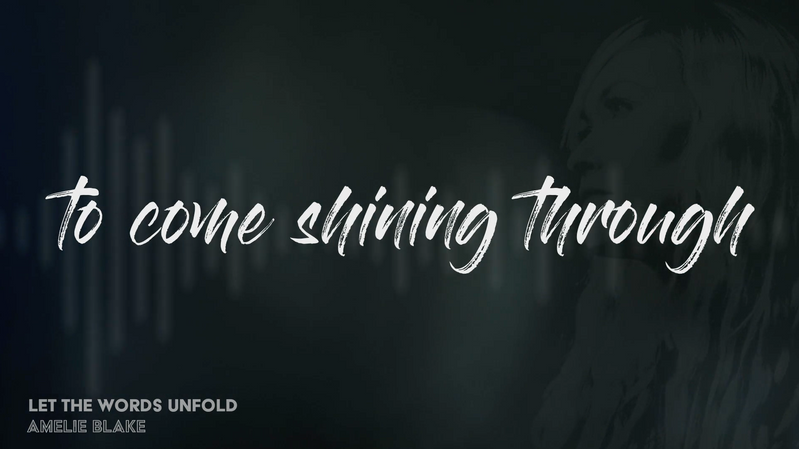 Let The Words Unfold Official Lyric Video