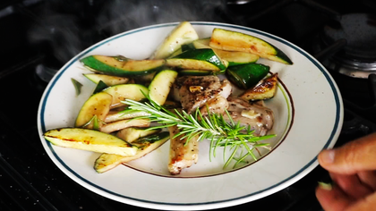 Lamb chops with Courgettes by Tommaso