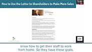 Using the CEO's Letter to Shareholders In Your Reverse Marketing