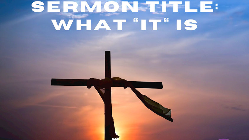"Pastor Jeffrey Brown: What ""IT"" is"