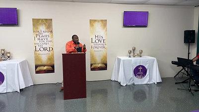 Pastor  Brown's sermon: A Fisher of Men