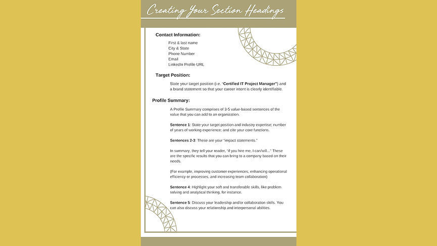 Resume & Cover Letter Writing