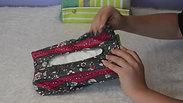 Utilisation boite à mouchoirs rectangle zip