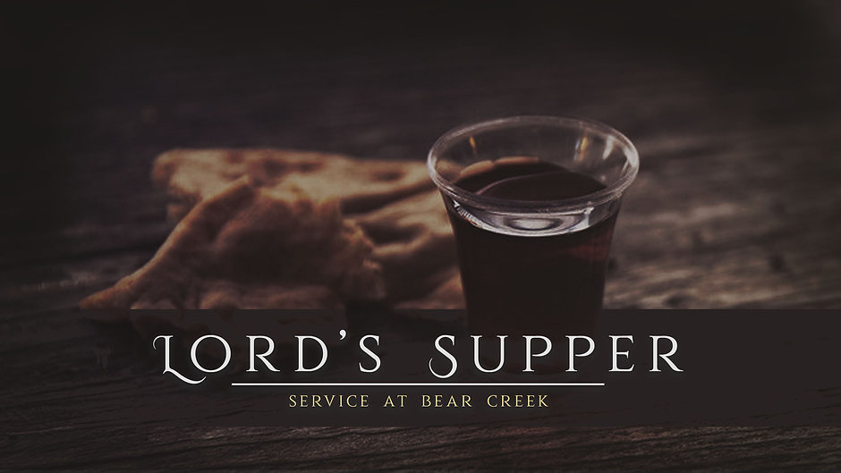 Lord's Supper Service