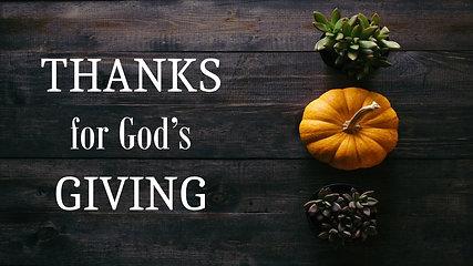 Thanks for God's Giving