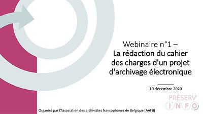 Préserv'info - Webinaire n°1