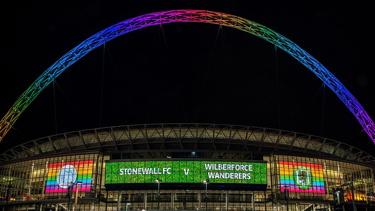 Stonewall FC plays at Wembley Stadium