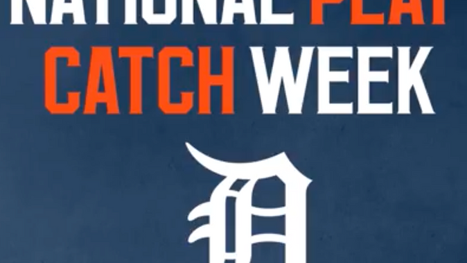 Detroit Tigers Celebrate Play Catch